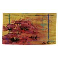 Artistic Poppy I Rug (2' x 3') - Brown - 2' x 3'