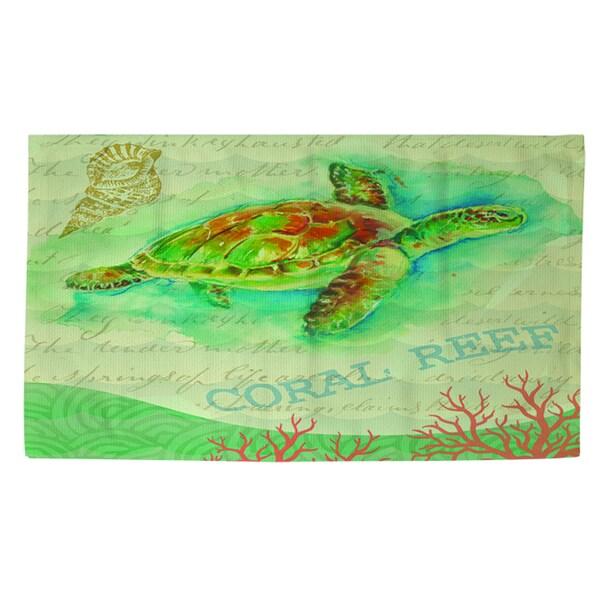 Salty Air Sea Turtle Rug (2' X 3')