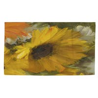 Sunflowers Square II Rug - 4' x 6'