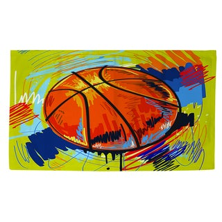 Thumbprintz Basketball Slam Dunk Rug (2' x 3')