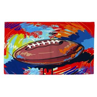 Football Touchdown Rug (2' x 3')
