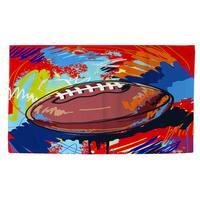Football Touchdown Rug (4' x 6')