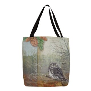 Thumbprintz Conifer Lodge Owl Tote