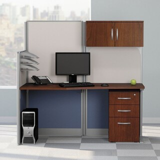 Office in an Hour 65W x 33D Cubicle Workstation in Hansen Cherry
