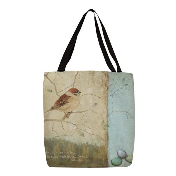 Bird Quote Sparrow Tote