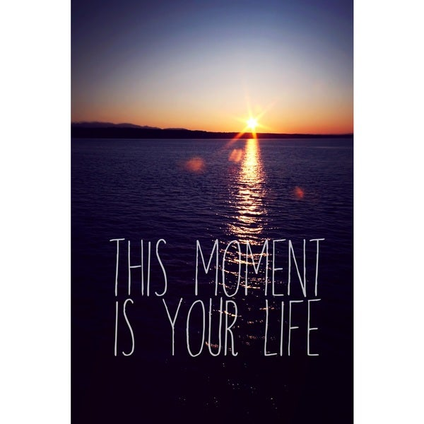 Marmont Hill Art Collective 'This Moment Is Your Life' Canvas Art - Multi-color
