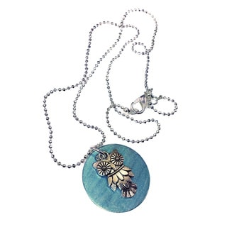 Mama Designs Owl Disc Pendant Necklace