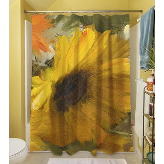 Thumbprintz Sunflowers Square II Shower Curtain