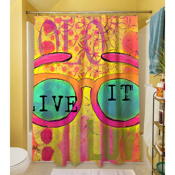 Sunglasses Live It Shower Curtain