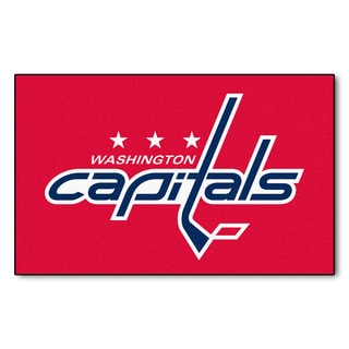 Fanmats Machine-made Washington Capitals Red Nylon Ulti-Mat (5' x 8')