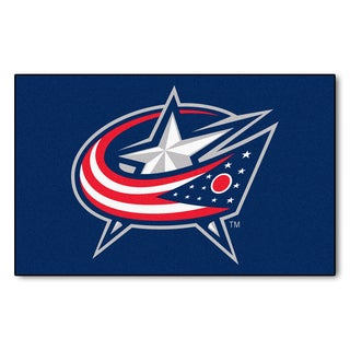 Fanmats Machine-made Columbus Blue Jackets Blue Nylon Ulti-Mat (5' x 8')