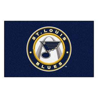 Fanmats Machine-made St Louis Blues Blue Nylon Ulti-Mat (5' x 8')