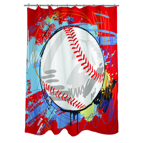 Baseball Homerun Shower Curtain