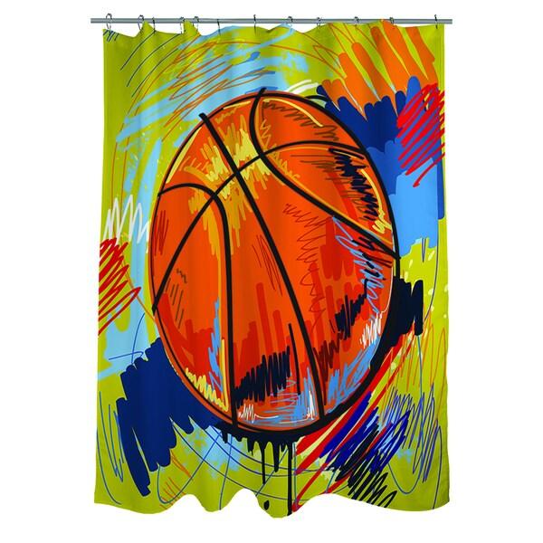 Basketball Slam Dunk Shower Curtain