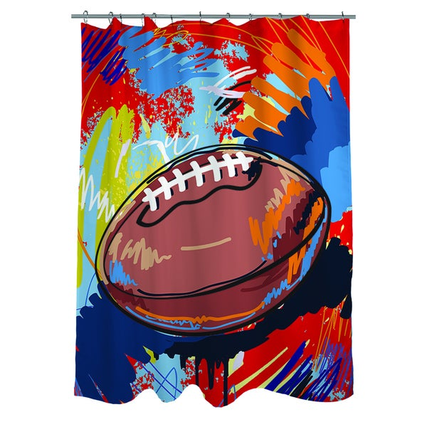 Football Touchdown Shower Curtain