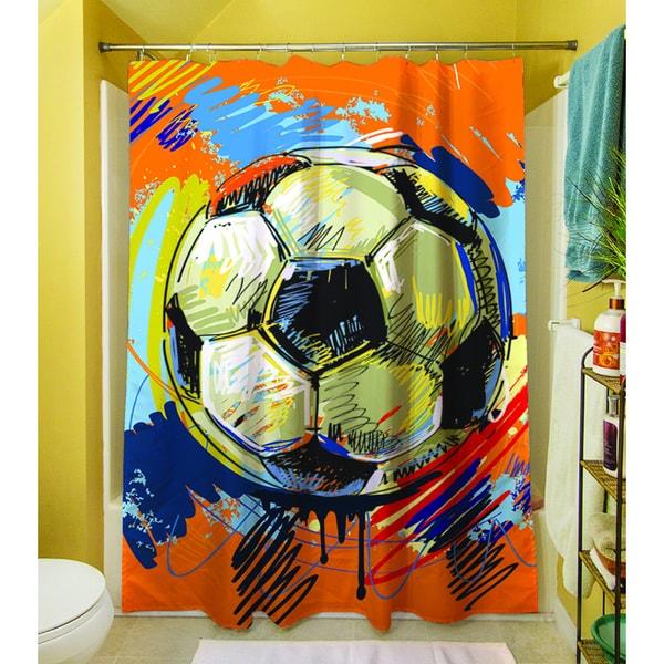 Soccer Goal Shower Curtain