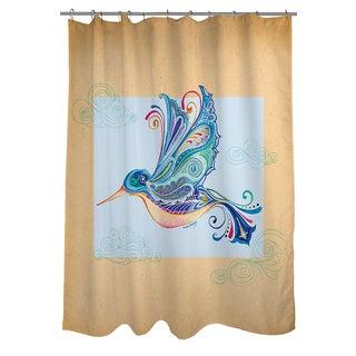 Funky Hummingbird Shower Curtain