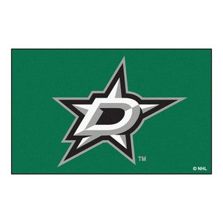 Fanmats Machine-made Dallas Stars Green Nylon Ulti-Mat (5' x 8')