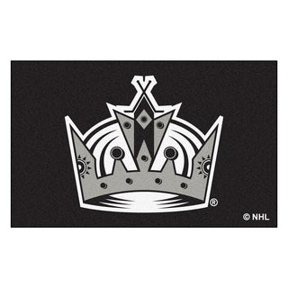 Fanmats Machine-made Los Angeles Kings Black Nylon Ulti-Mat (5' x 8')