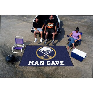 Fanmats Machine-made Buffalo Sabres Blue Nylon Man Cave Ulti-Mat (5' x 8')
