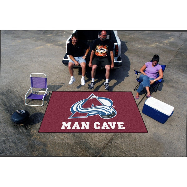 Fanmats Machine-made Colorado Avalanche Burgundy Nylon Man Cave Ulti-Mat (5' x 8')