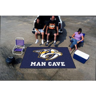 Fanmats Machine-made Nashville Predators Blue Nylon Man Cave Ulti-Mat (5' x 8')