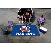 Fanmats Machine-made New York Islanders Blue Nylon Man Cave Ulti-Mat (5' x 8')