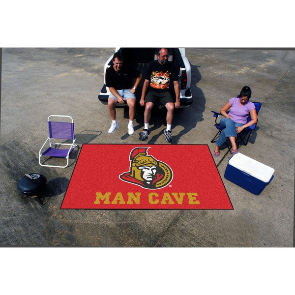 Fanmats Machine-made Ottawa Senators Red Nylon Man Cave Ulti-Mat (5' x 8')