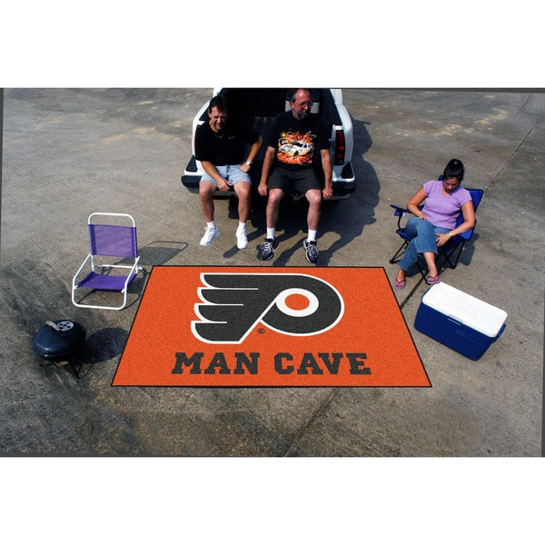 Fanmats Machine-made Philadelphia Flyers Orange Nylon Man Cave Ulti-Mat (5' x 8')