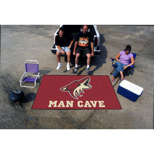 Fanmats Machine-made Phoenix Coyotes Red Nylon Man Cave Ulti-Mat (5' x 8')