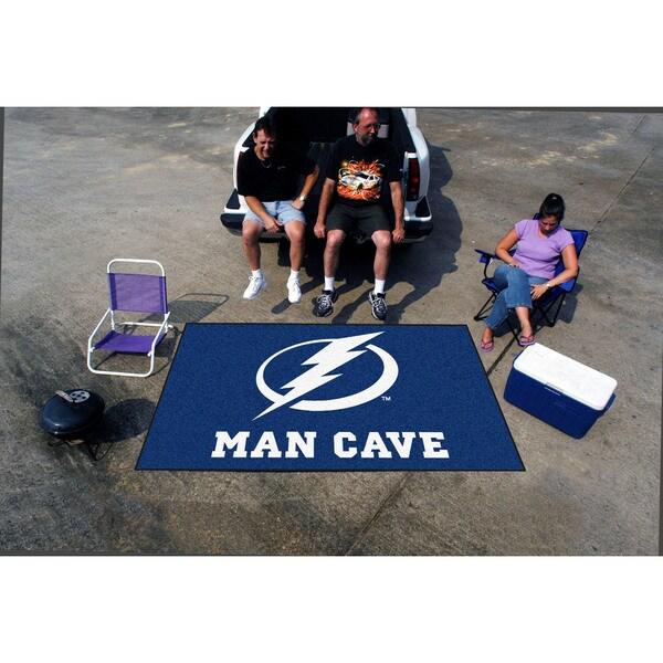 Fanmats Machine-made Tampa Bay Lightning Blue Nylon Man Cave Ulti-Mat (5' x 8')
