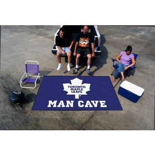 Fanmats Machine-made Toronto Maple Leafs Blue Nylon Man Cave Ulti-Mat (5' x 8')