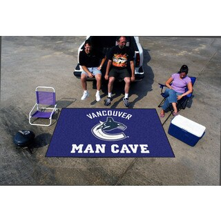 Fanmats Machine-made Vancouver Canucks Blue Nylon Man Cave Ulti-Mat (5' x 8')