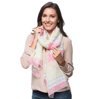 Multicolored Stripe Linen Scarf (India)