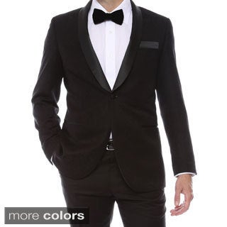 Zonettie-Ferrecci Men's 2 Button Double Vented Tuxedo Blazer