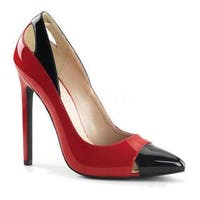 Women's Pleaser Sexy 22 Pump Red/Black Patent