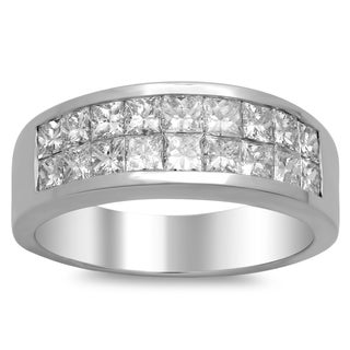 14k Gold Men's 3ct TDW Diamond Wedding Ring (F-G, SI1-SI2)