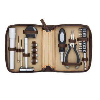 Fix It Kit 22-piece Tool Set with Hammer and LED Flashlight