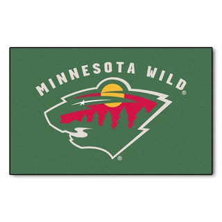 Fanmats Machine-made Minnesota Wild Green Nylon Ulti-Mat (5' x 8')