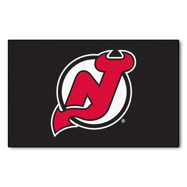 Fanmats Machine-made New Jersey Devils Black Nylon Ulti-Mat (5' x 8')