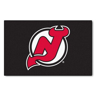 Fanmats Machine-made New Jersey Devils Black Nylon Ulti-Mat (5' x 8')