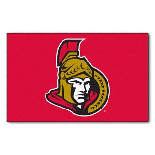 Fanmats Machine-made Ottawa Senators Red Nylon Ulti-Mat (5' x 8')