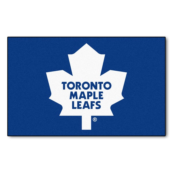 Fanmats Machine-made Toronto Maple Leafs Blue Nylon Ulti-Mat (5' x 8')