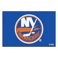 Fanmats Machine-made New York Islanders Blue Nylon Ulti-Mat (5' x 8')
