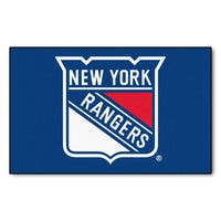 Fanmats Machine-made New York Rangers Blue Nylon Ulti-Mat (5' x 8')