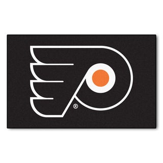Fanmats Machine-made Philadelphia Flyers Black Nylon Ulti-Mat (5' x 8')