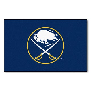 Fanmats Machine-made Buffalo Sabres Blue Nylon Ulti-Mat (5' x 8')