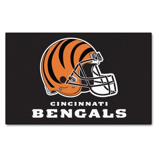 Fanmats Machine-made Cincinnati Bengals Black Nylon Ulti-Mat (5' x 8')