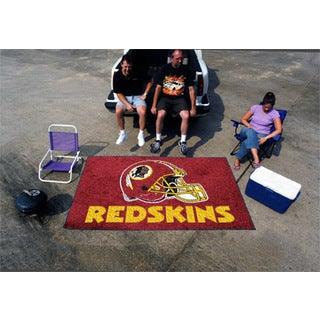 Fanmats Machine-made Washington Redskins Burgundy Nylon Ulti-Mat (5' x 8')