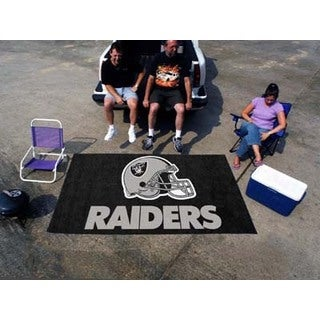 Fanmats Machine-made Oakland Raiders Black Nylon Ulti-Mat (5' x 8')